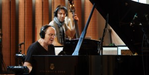 Lars Jansson and Mats Eilertsen with with JazzCode at Rainbow Studios. Photo: Olav Olsen 2010